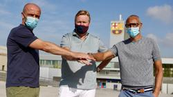 Schreuder, Koeman y Larsson hoy en Barcelona.