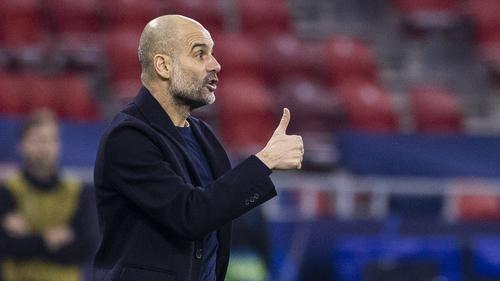Pep Guardiola freute sich über den Erfolg gegen Gladbach