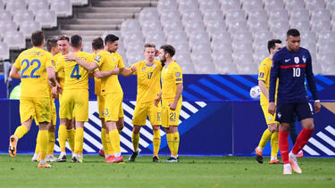 Frankreich kam gegen die Ukraine nicht über ein 1:1 hinaus