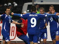 Mit seinem Treffer zum 1:0 wurde Vedad Ibisevic zum Volksheld