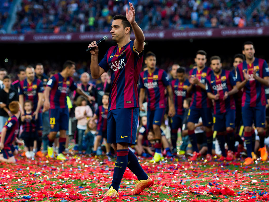 reputable site 3836e aeff6 Qatar Stars League » News » 'Proud' Xavi unveiled by Qatar's ...