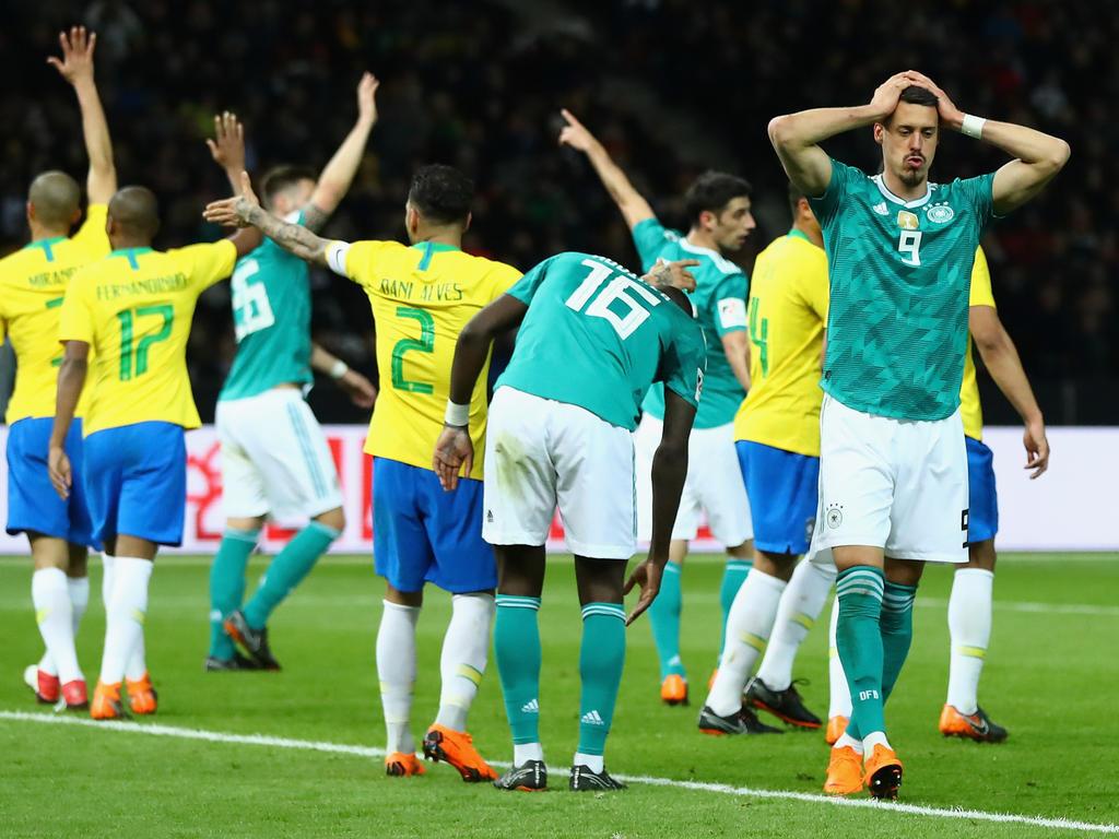 Dei DFB-Elf kassiert in Berlin gegen Brasilien eine Niederlage
