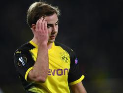 Mario Götze stand im Zentrum der Kritik von BVB-Coach Peter Stöger