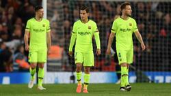 Coutinho (Mitte) und Ivan Raktitic (re.) sollen beim FC Barcelona auf der Streichliste stehen