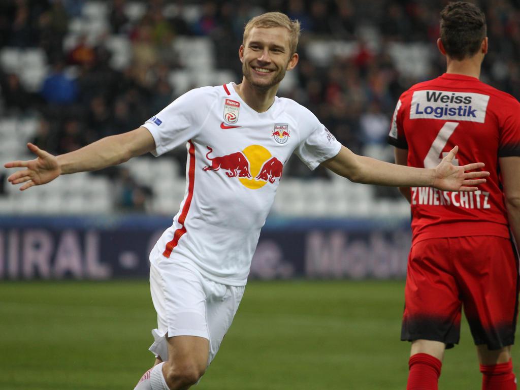 Teambaby Konrad Laimer ist der Bundesliga