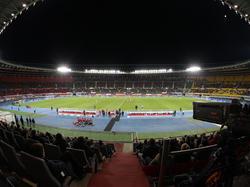 Gegen Israel blieben einige Plätze im Stadion leer