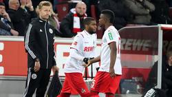 Jhon Córdoba (r.) fehlt gegen Paderborn gelb-gesperrt