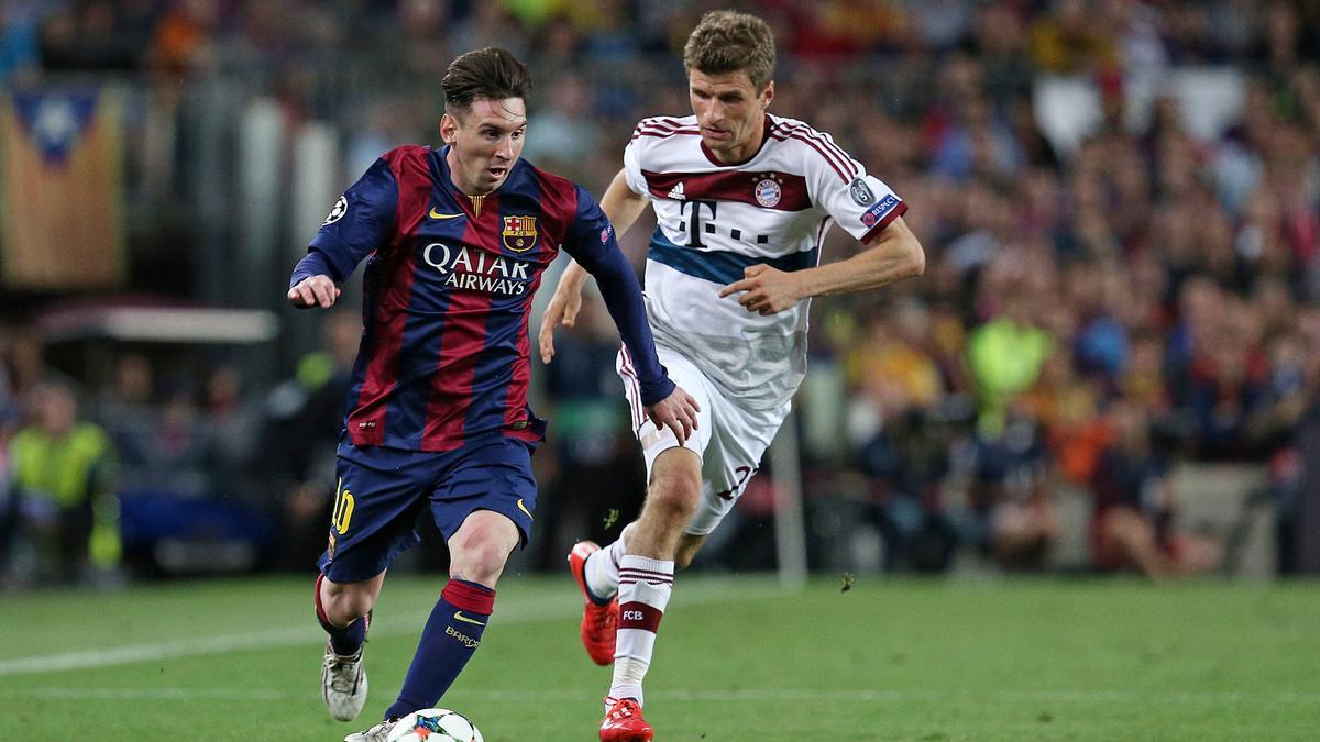 Thomas Müller hat gute und schlechte Erfahrungen mit Lionel Messi gemacht