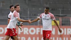 Adam Szalai (l.) erzielte zwei Treffer für den 1. FSV Mainz 05
