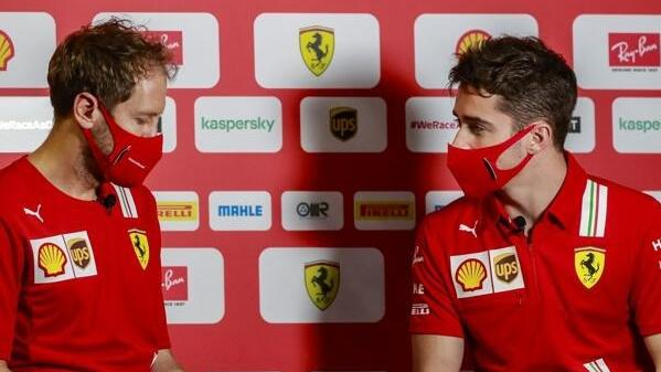 Sebastian Vettel und Charles Leclerc: Im Rennen war man sich nicht ganz grün ...