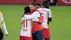Julian Nagelsmann jubelte nach dem Sieg gegen Wolfsburg im Pokal