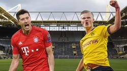 Robert Lewandowski vom FC Bayern und BVB-Stürmer Erling Haaland sollen ins Real-Visier geraten sein
