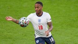 Raheem Sterling steht mit England im EM-Finale