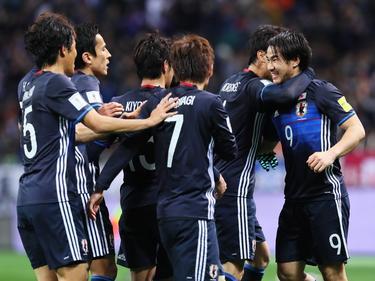 Die japanische Nationalmannschaft schlägt Afghanistan