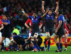 Frankreich feiert den Einzug ins Finale der Rugby WM