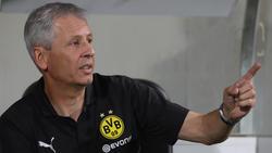 Lucien Favre war mit dem Auftritt seiner Mannschaft in Fürth zufrieden