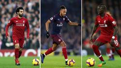 Salah und Aubameyang und Mané sind in der Endauswahl zum Fußballer des Jahres in Afrika