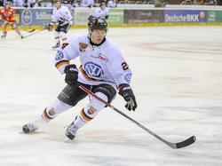 Jeremy Dehner auf dem Eis
