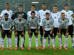Die deutsche U19 vor dem 2:0 gegen Griechenland