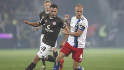 Diamantakos (l.) und van Drongelen (r.) erzielten für den FC St. Pauli die Tore gegen den HSV