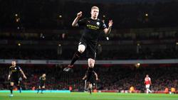 Kevin De Bruyne hizo dos goles contra el Arsenal