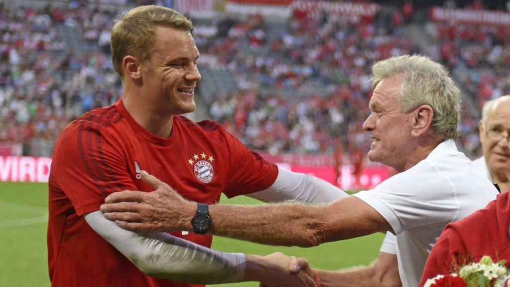 Sepp Maier traut Manuel Neuer (li.) den Vereinsrekord zu