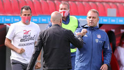 Hansi Flick (r.) feierte mit dem FC Bayern den nächsten klaren Auswärtssieg