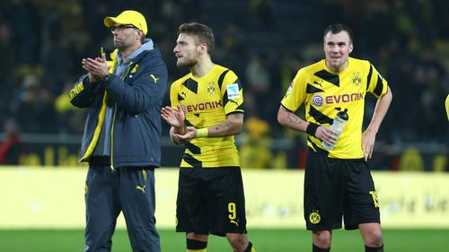 Spielten unter Jürgen Klopp (l.) beim BVB zusammen: Ciro Immobile (M.) und Kevin Großkreutz (r.)