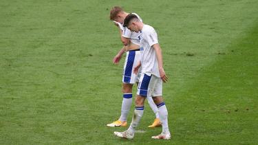 Die Schalker Spieler waren nach der Niederlage geknickt