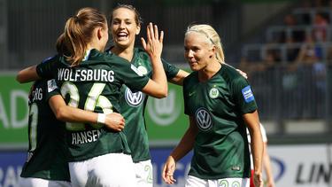 Die Wolfsburger Frauen müssen gegen Lyon ran