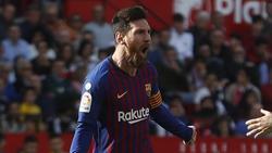 Lionel Messi war gegen Sevilla der gefeierte Held