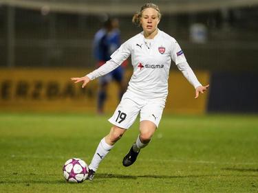 Katrin Schmidt, früher in Frankfurt unter Vertrag, hat ihr Debüt für Schweden gegeben