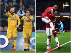 Juventus Turin (l.) und Manchester United stehen in der Königsklasse vor Pflichtaufgaben