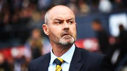 Schottlands Trainer Steve Clarke