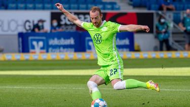Maximilian Arnold hat auf der PK des VfL Wolfsburg gescherzt