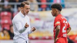 Matthias Jaissle (l.) hofft, dass Karim Adeyemi (r.) in Salzburg bleibt