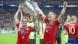 Philipp Lahm und Bastian Schweinsteiger (R.) sollen in den Fokus von Hertha BSC gerückt sein