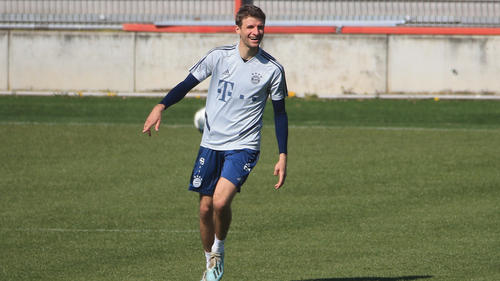 Thomas Müller trainiert derzeit an der Säbener Straße