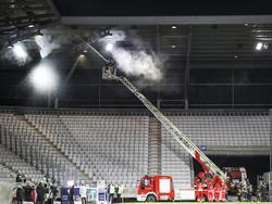 Feuerwehr im Tivoli-Stadion