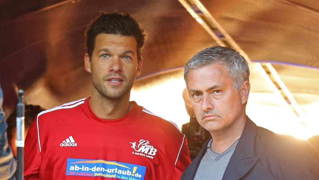 Kennen sich aus gemeinsamer Zeit beim FC Chelsea: Michael Ballack und José Mourinho