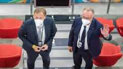 Bei der Frage nach einer Fan-Rückkehr einer Meinung: BVB-Boss Watzke und Bayerns scheidender Vorstandschef Rummenigge