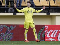 Samu Castillejo bejubelt sein 2:0 gegen Levante