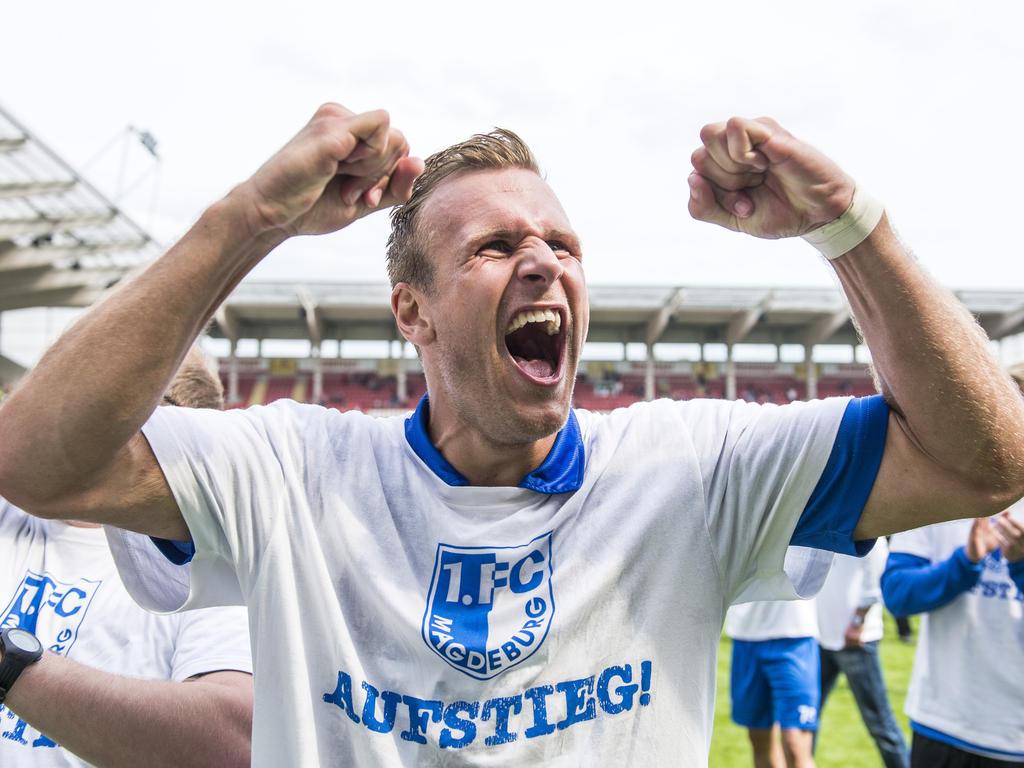Felix Schiller traf vor Magdeburgs Aufstiegsfeier