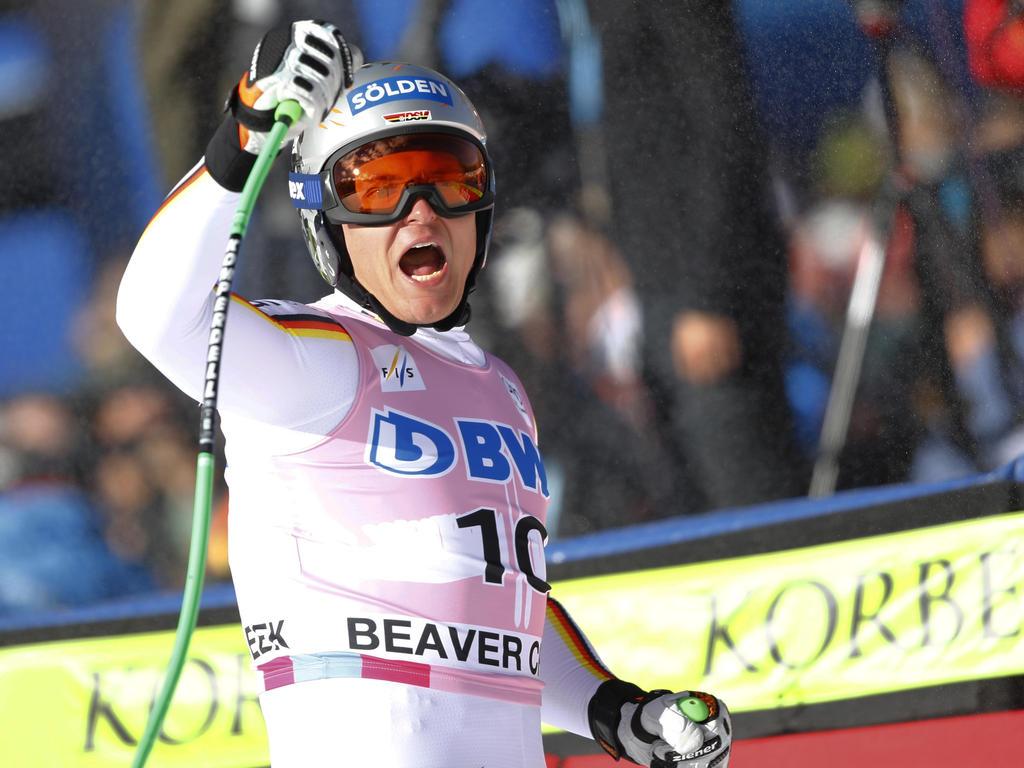 Thomas Dreßen hat seinen zweiten Weltcupsieg gefeiert