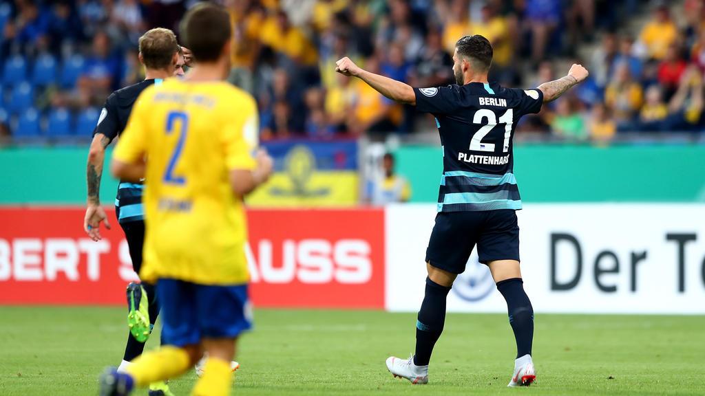 Torschütze im DFB-Pokal: Marvin Plattenhardt (r.)