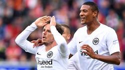 Nicolai Müller und Sébastien Haller trafen für Eintracht Frankfurt