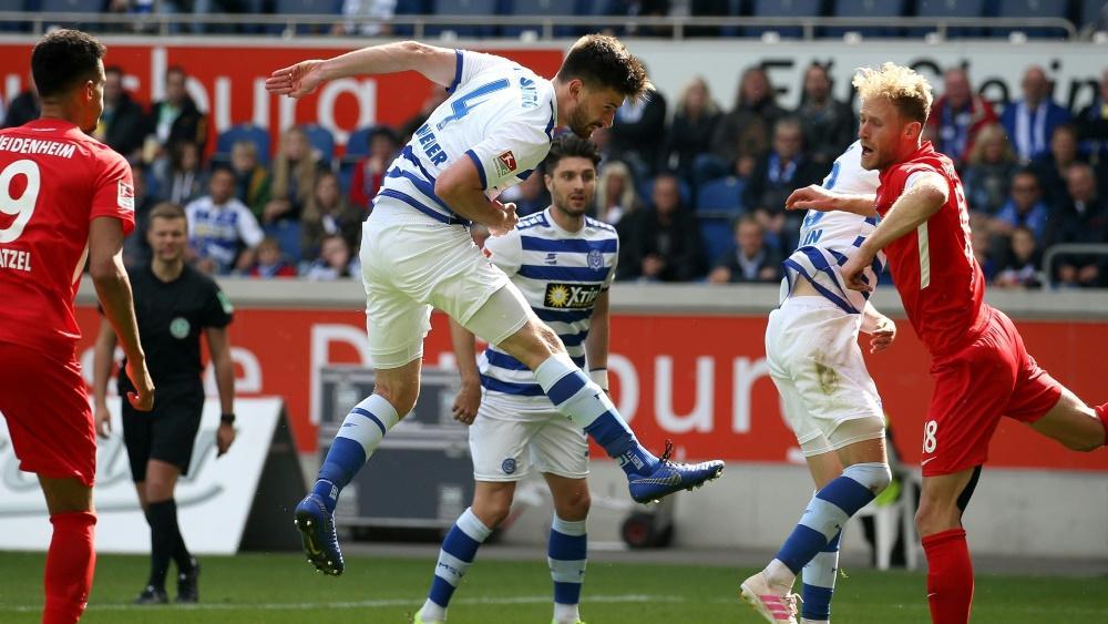 Der MSV Duisburg unterliegt dem 1. FC Heidenheim und steigt ab