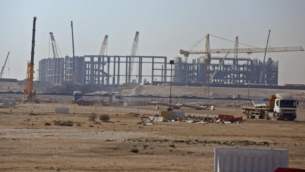 Beim Bau eines Stadions für die WM 2022 in Katar ist es zu Verstößen gekommen