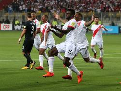 Die peruanische Nationalmannschaft fährt zur WM nach Russland