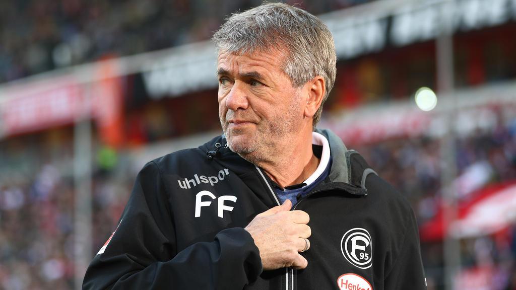Friedhelm Funkel trainiert Fortuna Düsseldorf seit 2016